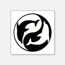 Black And White Yin Yang Dolphins Sticker