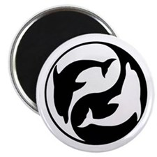 Black And White Yin Yang Dolphins Magnet