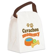 Cavachon Mommy Canvas Lunch Bag