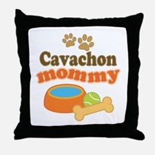 Cavachon Mommy Throw Pillow