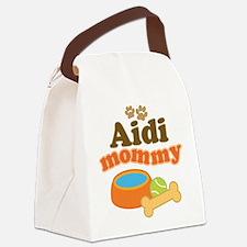 Aidi Dog Mommy Canvas Lunch Bag