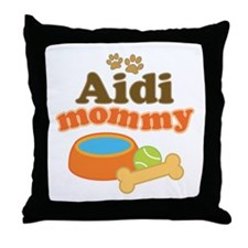 Aidi Dog Mommy Throw Pillow