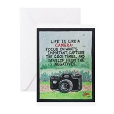 """ LIFE is like a Camera "" / Sculpted Art Greeting"