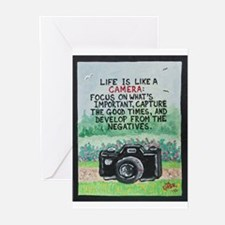 """"""" LIFE is like a Camera """" / Sculpted Art Greeting"""