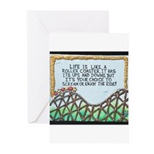 The Rollercoaster / Sculpted Art Greeting Cards (P