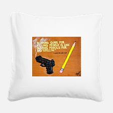 Guns Pencils / Sculpted Art Square Canvas Pillow