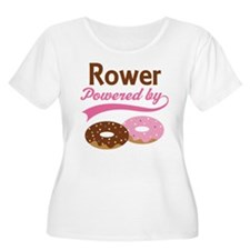 Rower Powered By Donuts T-Shirt