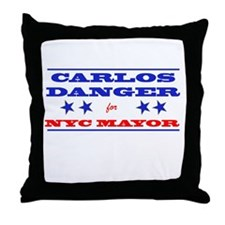 Carlos Danger for Mayor Throw Pillow