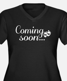 Coming Soon - Baby Footprints Women's Plus Size V-