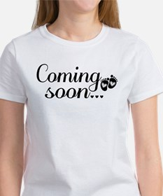 Coming Soon - Baby Footprints Women's T-Shirt