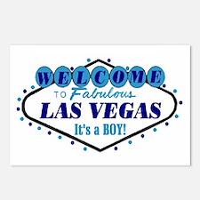 Las Vegas Blue Baby Postcards It's a BOY pkg of 8