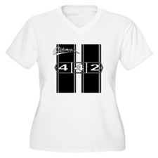 Olds 442 Racing Stripes Plus Size T-Shirt