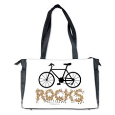 Bicycle Rocks Text Diaper Bag