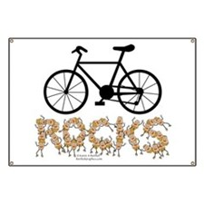 Bicycle Rocks Text Banner