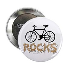"Bicycle Rocks Text 2.25"" Button"
