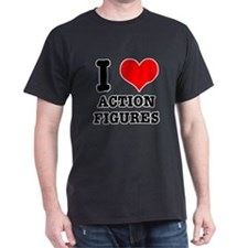 I Heart (Love) Action Figures T-Shirt