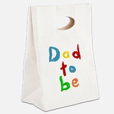 Primary Color Text Dad To Be Canvas Lunch Tote