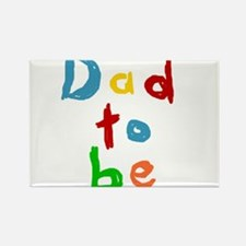 Primary Color Text Dad To Be Rectangle Magnet