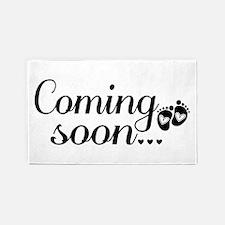 Coming Soon - Baby Footprints 3'x5' Area Rug