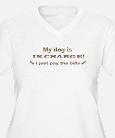 dog in charge more breeds Plus Size T-Shirt