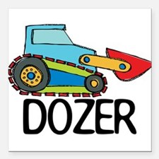 "Dozer Square Car Magnet 3"" x 3"""