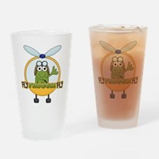 Fly Froggie Fly Drinking Glass