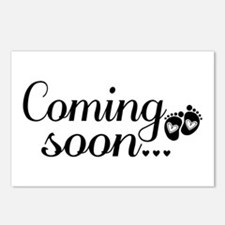 Coming Soon - Baby Footprints Postcards (Package o