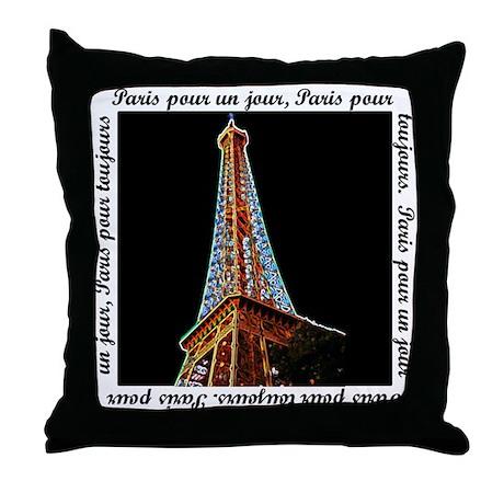 Decorative Pillows Eiffel Tower : Eiffel Tower Throw Pillow by nitsupak