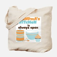 Grandmas Kitchen Always Open Tote Bag