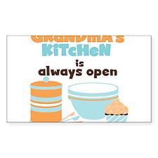 Grandmas Kitchen Always Open Decal