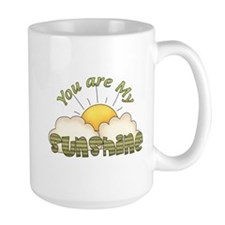 You Are My Sunshine Green Text Mug