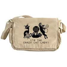 I'm the Crazy Cat Lady Messenger Bag