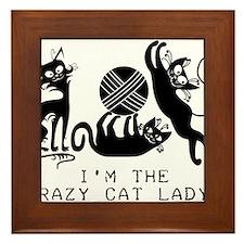 I'm the Crazy Cat Lady Framed Tile