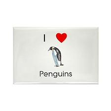I Love Penguins (pic) Rectangle Magnet