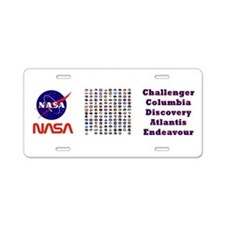Shuttle Program Composite Aluminum License Plate