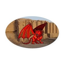 Manticore Oval Car Magnet