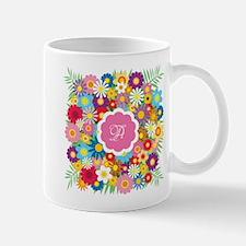 Custom Monogram Floral Mug