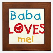 Baba Loves Me Framed Tile
