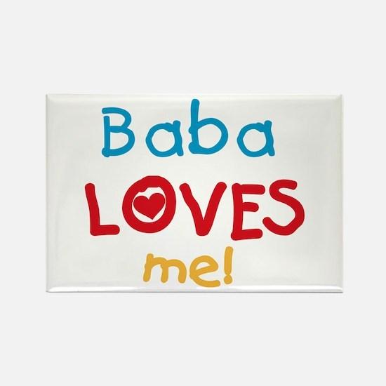 Baba Loves Me Rectangle Magnet