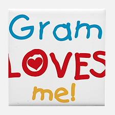 Gram Loves Me Tile Coaster