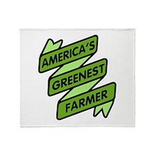 Greenest Farmer Throw Blanket