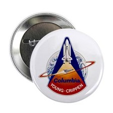 "STS-1 Columbia 2.25"" Button"
