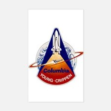 STS-1 Columbia Sticker (Rectangle)