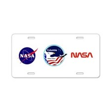 Columbia STS-2 Aluminum License Plate