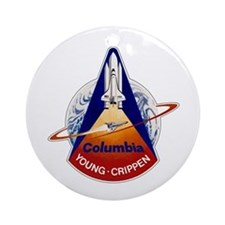 STS-1 Columbia Ornament (Round)