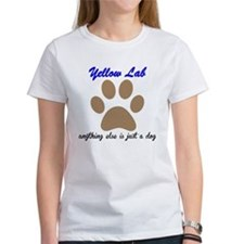 Just A Dog Yellow Lab T-Shirt