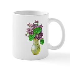 Vintage Victorian Vase and Purple Flowers Mug
