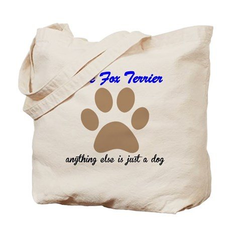 Just A Dog Wire Fox Terrier Tote Bag