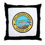 Philadelpia PD Air Ops Throw Pillow