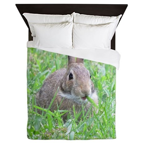Rabbit Eating Queen Duvet